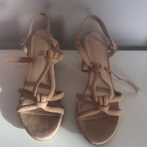 H&M Blush pink/nude block heels